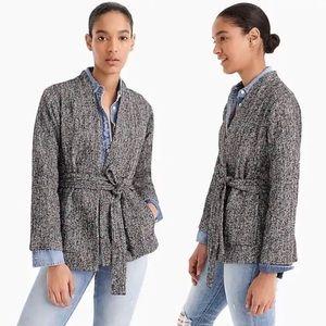 J. Crew Point Sur Wrap Jacket Donegal Tweed Medium